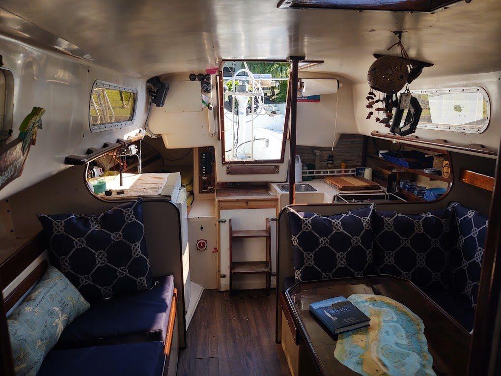 Main cabin to stern 1970 Morgan 38